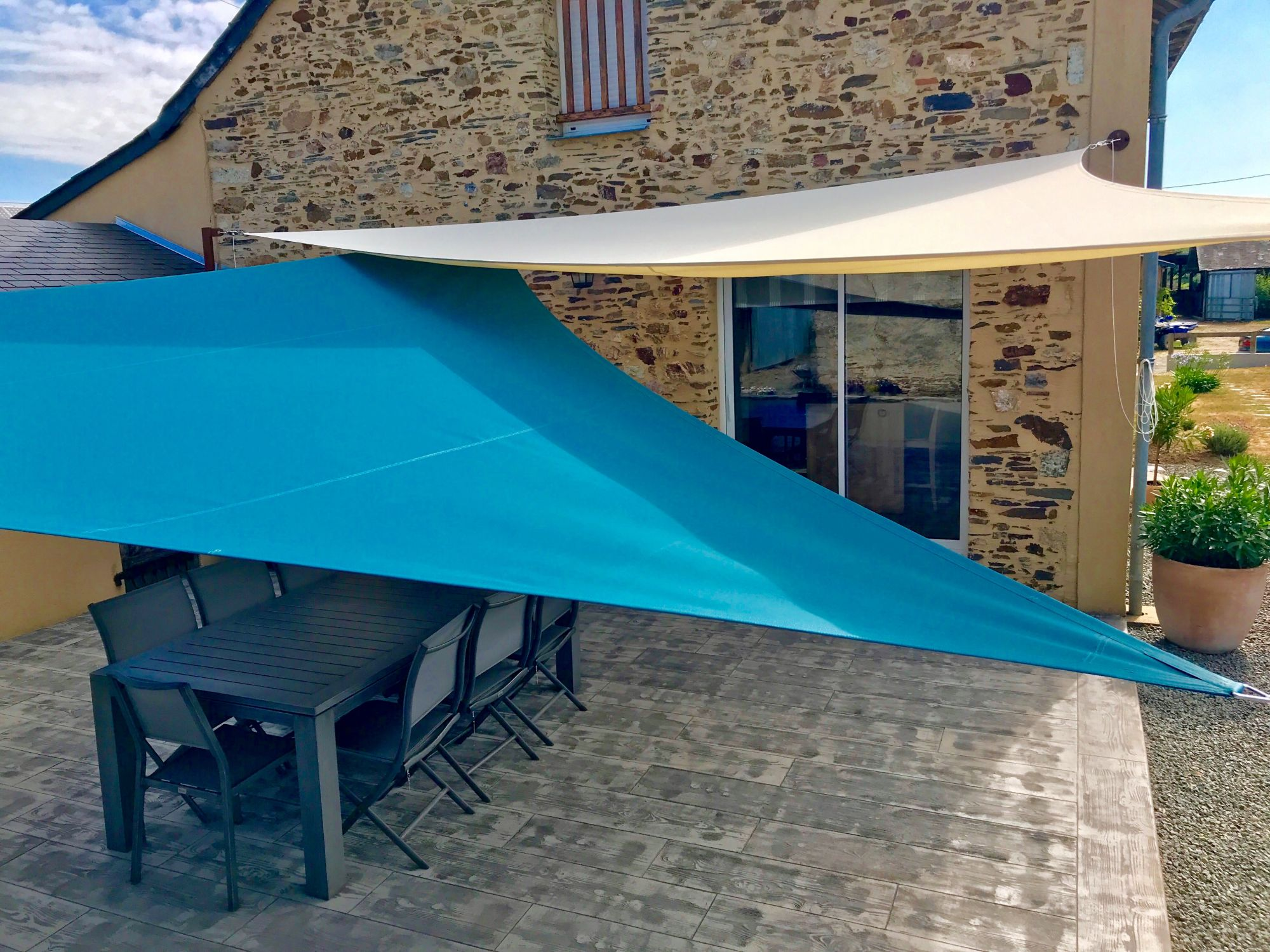 Meilleur Voile D Ombrage tarifs - made in pornic - voile d'ombrage - brise vue - parasol